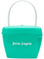 Palm Angels Printed Logo Tote Bag Green