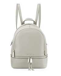 Rhea Small Zip Backpack Pearl Gray Michael Michael Kors