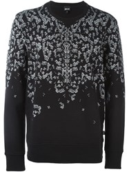 Just Cavalli Safety Pin Print Sweatshirt Black