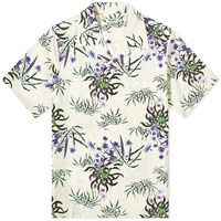 Kenzo Flower Casual Vacation Shirt Neutrals