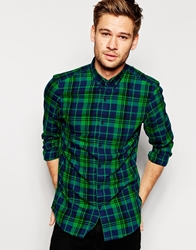 Pull And Bear Pullandbear Checked Shirt Green