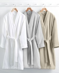 Hotel Collection Waffle Weave Robe 100 Turkish Cotton Created For Macy's Bedding White