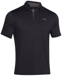 Under Armour Men's Playoff Performance Solid Golf Polo Black