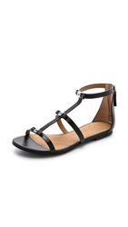 Marc By Marc Jacobs Cube Bow Flat Sandals Black