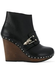 See By Chloe Studded Wedge Boots Black