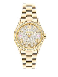 Furla Eva Silver Dial Stainless Steel Watch Gold