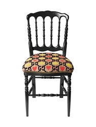 Gucci Gg Heart And Bee Jacquard Chair Multicolor