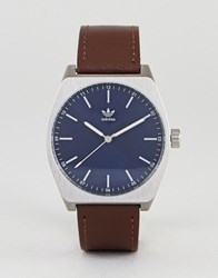 Adidas Z05 Process Leather Watch In Brown