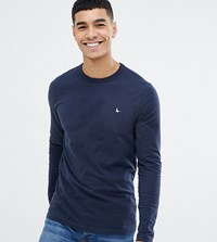 Jack Wills Jameson Muscle Fit Long Sleeve T Shirt In Navy Exclusive At Asos