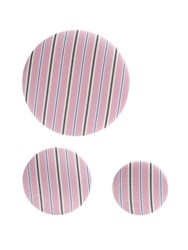 Balenciaga Set Of 3 Striped Earrings Pink