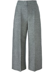 Lanvin Cropped Wide Leg Trousers Grey