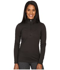Spyder Shimmer Bug Velour Fleece T Neck Top Black Women's Long Sleeve Pullover