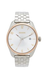 Nixon The Bullet Watch Silver Gold Rose Gold