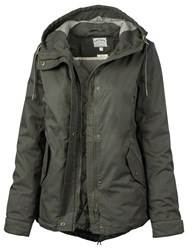 Fat Face Penrith Swing Parka Green