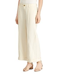 Ralph Lauren Wide Leg Linen Pants 100 Exclusive Cream
