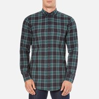 Boss Orange Men's Elonge Check Long Sleeve Shirt Dark Blue
