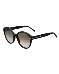 Jimmy Choo More Studded Cat Eye Sunglasses Black