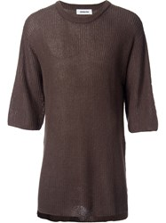 Monkey Time Cable Knit Three Quarter Sleeve Jumper Green