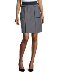 Lafayette 148 New York Madeline Narrow A Line Skirt Ink