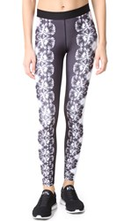 Monreal London Floral Leggings Viola Print