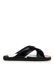 Alexander Mcqueen Crossover Leather Sandals