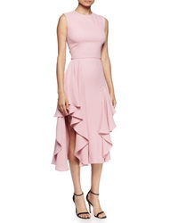 Alexander Mcqueen Sleeveless Flounce Hem Dress Fox Glove Pink