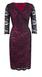Grace Made In Britain Lace Dress Pink