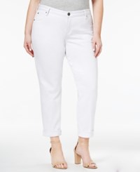 Kut From The Kloth Plus Size Catherine Destructed Boyfriend Jeans White