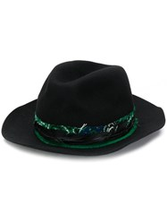 Zadig And Voltaire Bandana Trim Trilby Hat Black