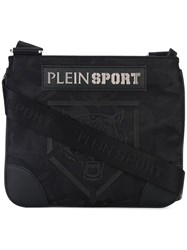 Plein Sport '23' Cross Body Bag Men Nylon Polyester Polyurethane One Size Black