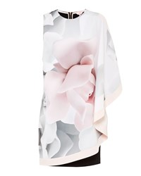 Ted Baker Lizeey Porcelain Rose Layered Tunic Cream