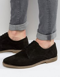 Red Tape Derby Shoes In Black Suede Black