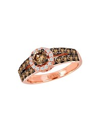 Le Vian Chocolatier Vanilla Diamond Chocolate Diamond And 14K Strawberry Gold Ring Brown