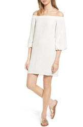 Soprano Women's Bell Sleeve Off The Shoulder Dress Ivory