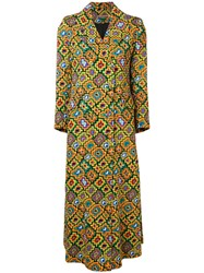 Duro Olowu Printed Blazer Dress Yellow And Orange