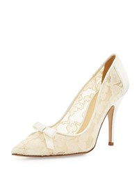 Lisa Lace And Satin Bow Pump Ivory Kate Spade New York