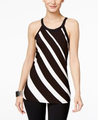Inc International Concepts Striped Halter Top Only At Macy's Black White Stripe