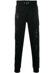 Plein Sport Embossed Tiger Track Pants Black