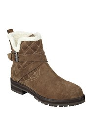 Marc Fisher Nasha Quilted Leather And Faux Fur Boots Brown
