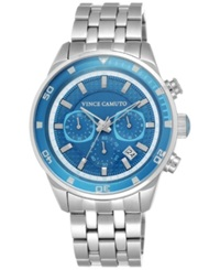 Vince Camuto Women's Blue Stainless Steel Bracelet Watch 45Mm Vc 1044Lbsv