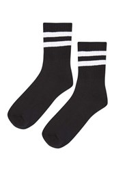 Topshop Sporty Tube Ankle Socks Black