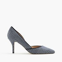 J.Crew Colette D'orsay Pumps In Houndstooth Ivory Navy