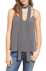 Ag Jeans Women's Lisette Cotton Tank And Scarf Storm Grey Ivory