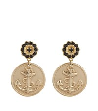 Dolce And Gabbana Anchor Earrings Female Metallic