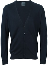 Laneus V Neck Cardigan Blue