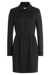 Red Valentino Wool Blend Tailored Coat Black