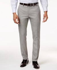 Kenneth Cole Reaction Men's Slim Fit Stretch Dress Pants Created For Macy's Lt Grey