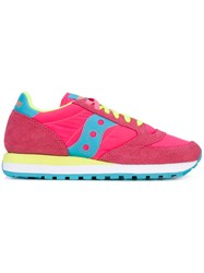 Saucony Jazz Original Sneakers Women Cotton Suede Nylon Rubber 6.5 Pink Purple