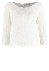Cream Marida Long Sleeved Top Chalk Off White