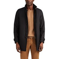 Moorer Duca Tech Twill Zip Front Jacket Black